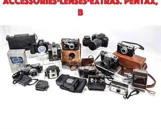 Lot 218 Lot 12 cameras and accessorieslensesextras. Pentax, B