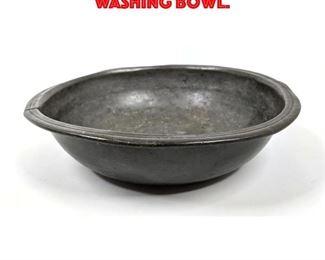 Lot 224 Antique Pewter Military Washing Bowl.