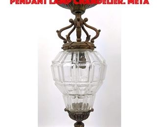 Lot 231 Clear Glass Shade Hanging Pendant Lamp Chandelier. Meta