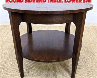 Lot 234 BAKER Furniture Vintage Round Side End Table. Lower she