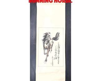 Lot 235 Asian Scroll of Running Horse.