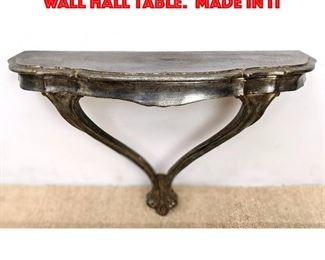 Lot 240 REGENT Silver Paint Finish Wall Hall Table. Made in It