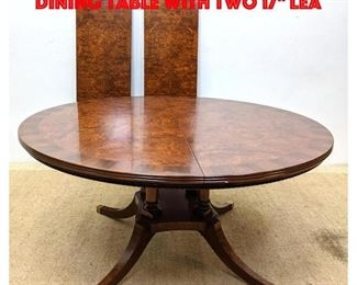 Lot 243 Italian Burl Wood Banquet Dining Table with Two 17 Lea