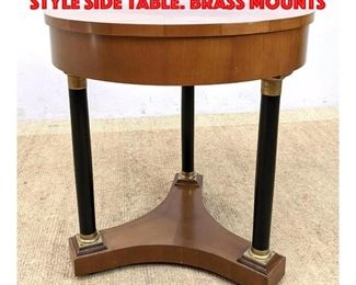 Lot 245 DECORATIVE CRAFTS Empire Style Side Table. Brass Mounts