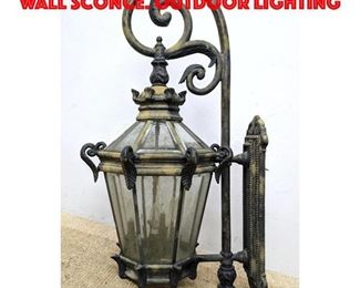 Lot 246 Large Beveled Panel Glass Wall Sconce. Outdoor Lighting
