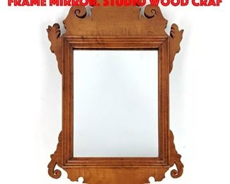 Lot 247 Chippendale style Scroll Frame Mirror. Studio Wood Craf