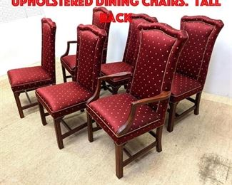 Lot 250 Set 6 ETHAN ALLEN Upholstered Dining Chairs. Tall back
