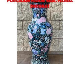 Lot 253 Chinese Soft Paste Porcelain Floor Vase. Floral decorat