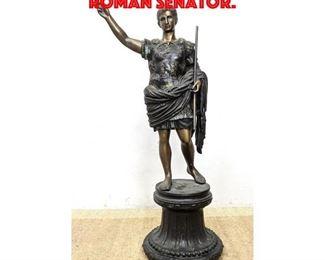 Lot 257 Large Bronze Sculpture of Roman Senator.