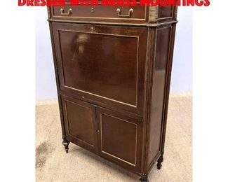 Lot 261 French Style Abattant Desk Dresser with Brass Mountings