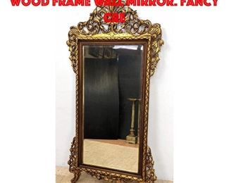 Lot 265 Elaborate Gilt Craved Wood Frame Wall Mirror. Fancy cre