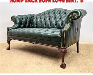 Lot 270 Chesterfield Style Leather Hump Back Sofa Love Seat. B