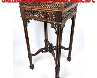 Lot 274 Small Square Carved Gallery Side Table Stand. Pierced c