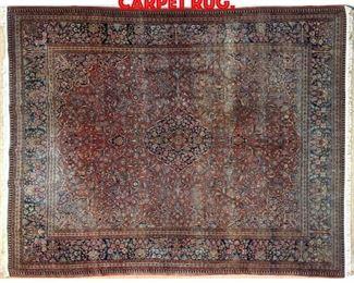 Lot 280 9 x 12 Hand Made Sarouk Carpet Rug.
