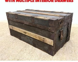 Lot 281 Vintage Tool Chest Truck with Multiple Interior Drawers