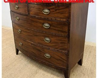 Lot 293 Flame Mahogany Dresser Chest of Drawers. Oval Brass Pul