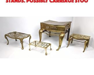 Lot 304 Collection of Four Brass Stands. Possibly Carriage Stoo