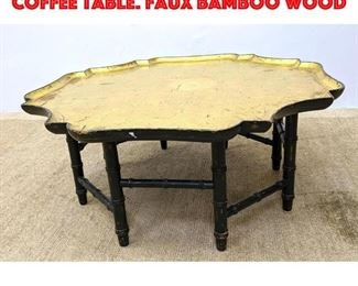 Lot 319 KITTINGER Tray Top style Coffee Table. Faux bamboo wood