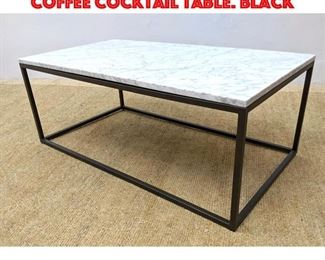 Lot 322 Faux Marble Top Modernist Coffee Cocktail Table. Black