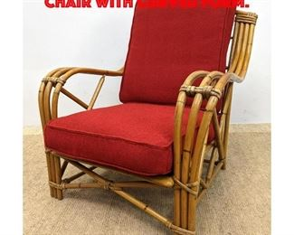 Lot 324 Bamboo Rattan Lounge Chair with Curved Form.