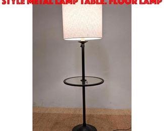 Lot 325 Restoration Hardware Style Metal Lamp Table. Floor Lamp