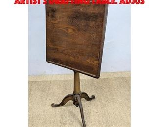 Lot 329 Industrial Wood and Iron Artist s Drafting Table. Adjus