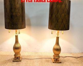 Lot 335 Pair Decorator Gilt Italian Style Table Lamps.
