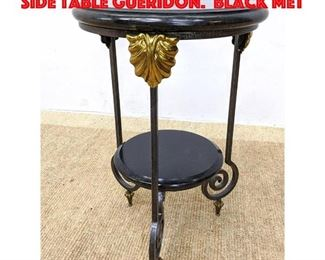 Lot 336 MAITLAND SMITH Two Tier Side Table Gueridon. Black met