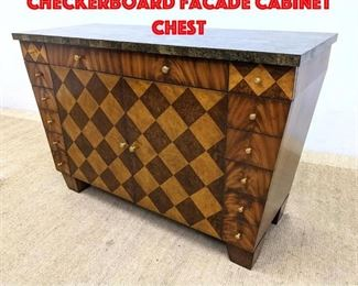 Lot 344 MAITLAND SMITH Inlaid Checkerboard Facade Cabinet Chest