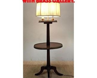 Lot 349 Classical Form Lamp Table with Brass Gallery.