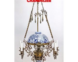 Lot 353 Blue and White Porcelain Chandelier