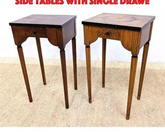 Lot 362 Pair BAKER Art Deco Style Side Tables with single Drawe