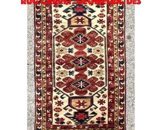 Lot 363 6 8 x 3 10 Vintage Oriental Rug Carpet. Geometric des