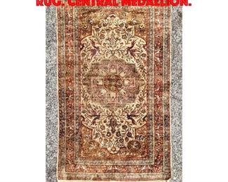 Lot 364 2 11 x 4 10 Vintage Oriental Rug. Central medallion.