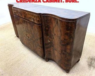 Lot 375 Art Deco Style Sideboard Credenza Cabinet. Burl.