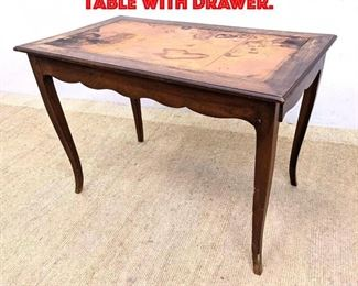 Lot 388 Country French Writing Table with Drawer.