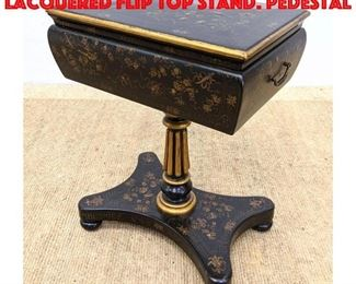Lot 398 MAITLAND SMITH Black Lacquered Flip Top Stand. Pedestal
