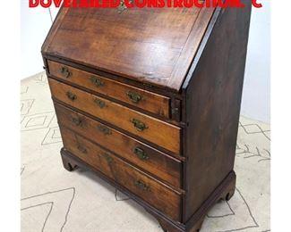 Lot 415 Antique Slant Lid Desk With Dovetailed Construction. C