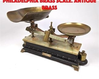 Lot 422 HENRY TROEMNER Philadelphia Brass Scale. Antique brass