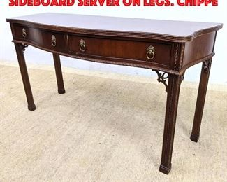 Lot 427 PALMER HOME COLLECTION Sideboard Server on Legs. Chippe