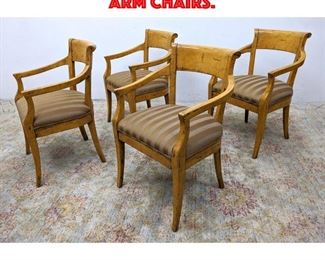 Lot 434 Set 4 Biedermeier Style Arm Chairs.