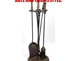 Lot 441 Fireplace Tools Vintage. Arts and Crafts Style.