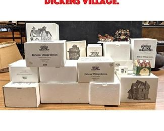 Lot 455 Large Lot 23pc of Dickens Village.