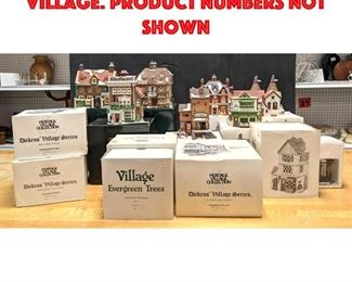 Lot 456 Large Lot of Dickens Village. Product numbers not shown