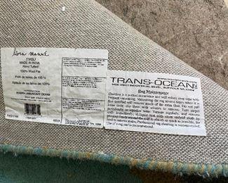$395 Trans-Ocean landscape rug 9' x 12 -