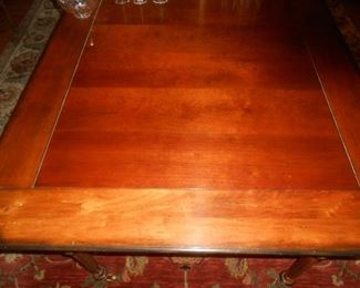 """(#1) With leaves, the dining table is 126.5"""" OR 10.5' x 48""""   **Each leaf is 48"""" x 26""""**"""