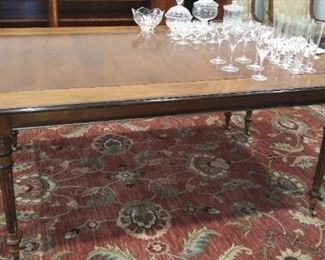 """(#1) dining table w/o leaves is 74.5"""" x 48"""""""