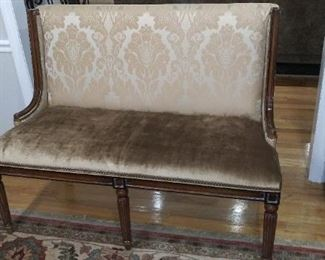 """(#1) The dining room settee is 37"""" tall X 50"""" wide"""