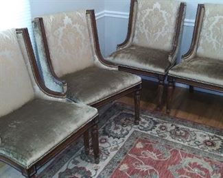 """(#1) There are (6) dining chairs 37"""" X 25 w"""
