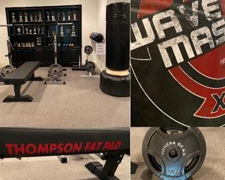 Wave Master Boxing Bag Weight Bench with Thompson Fat Pad